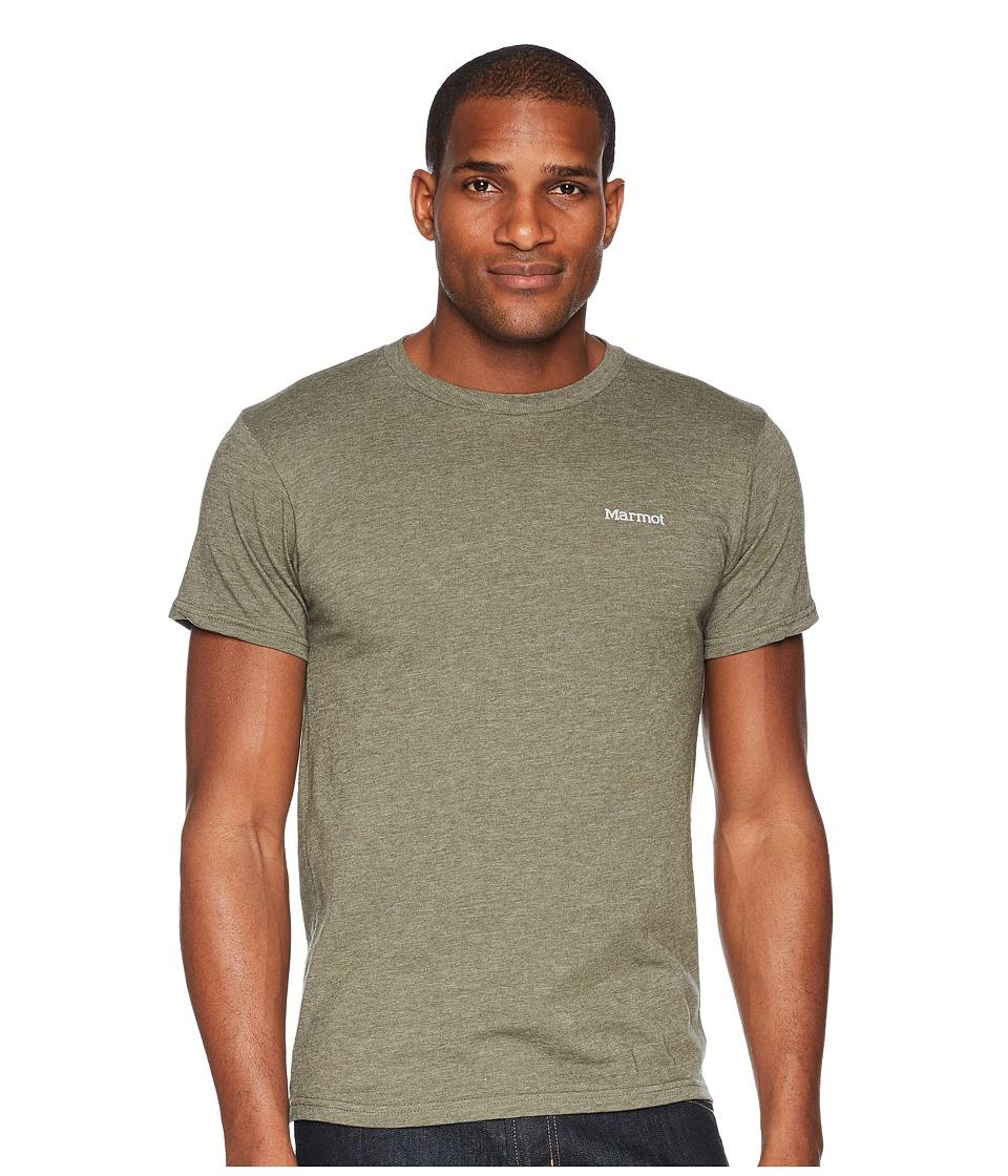 Marmot - Short Sleeve Marwing Tee (Olive Heather) Mens T Shirt