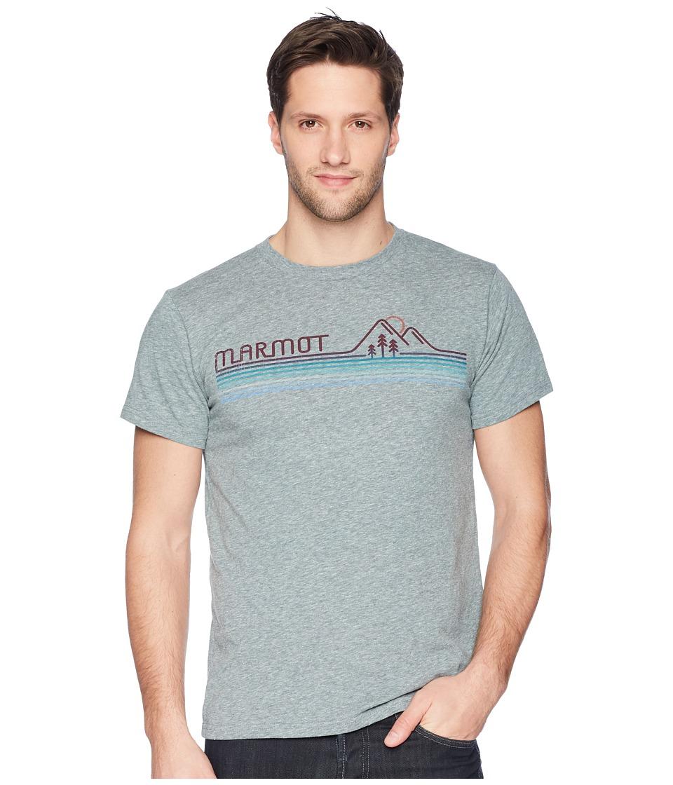 Marmot - Short Sleeve Line Set Tee (Ash Heather) Mens T Shirt