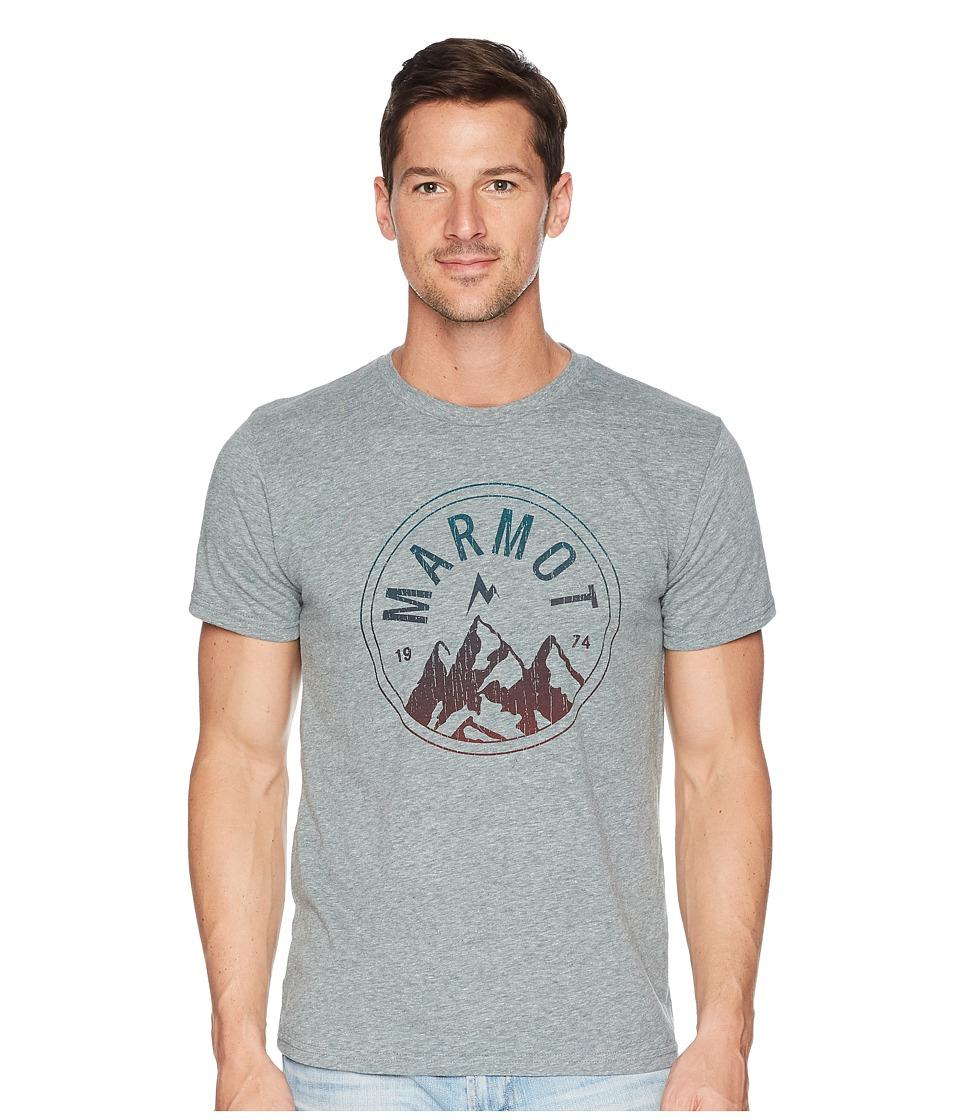 Marmot - Short Sleeve Perimeter Tee (Ash Heather) Mens T Shirt