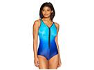 Speedo Plunge Zip Ombre Swimsuit