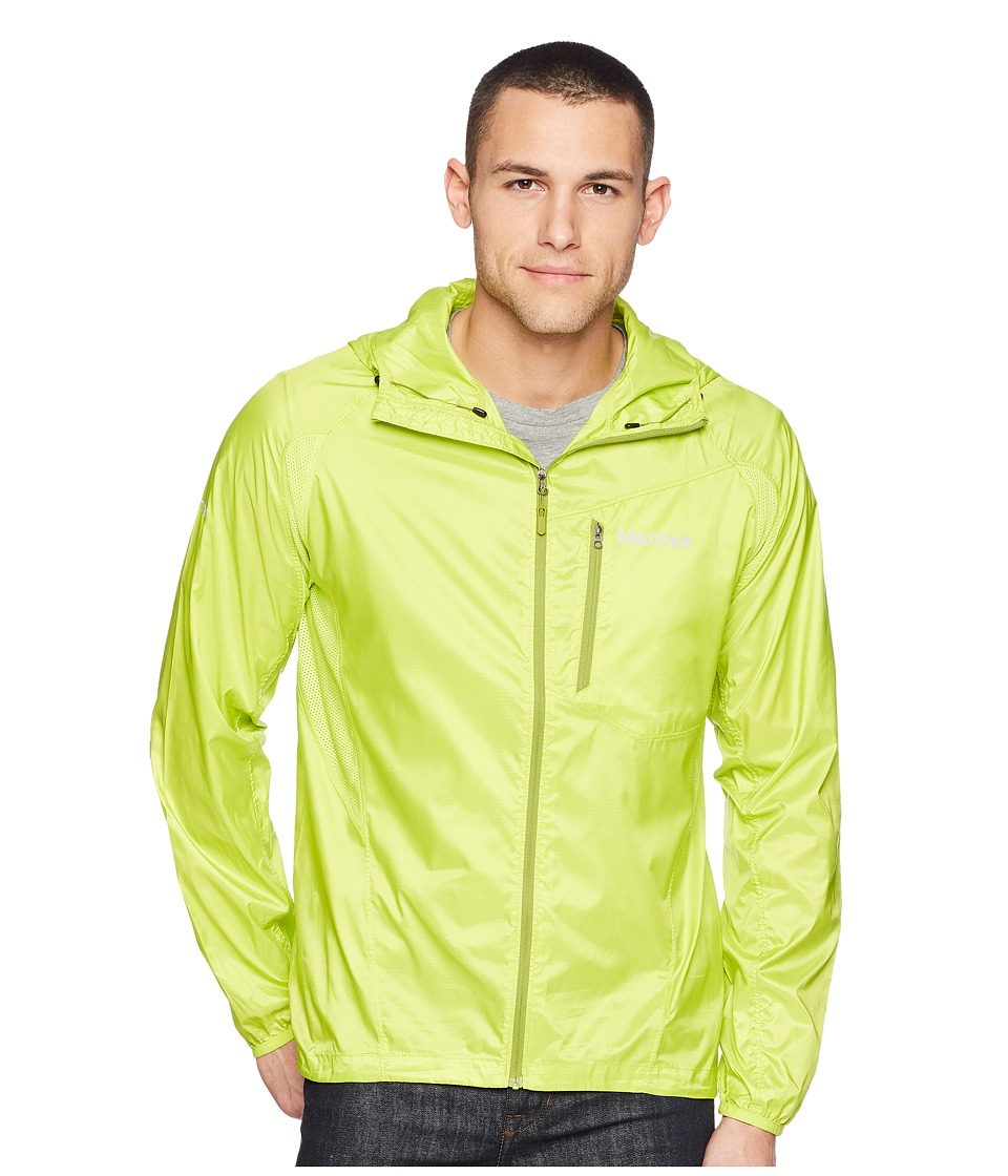Marmot - Trail Wind Hoodie (Bright Lime) Mens Clothing