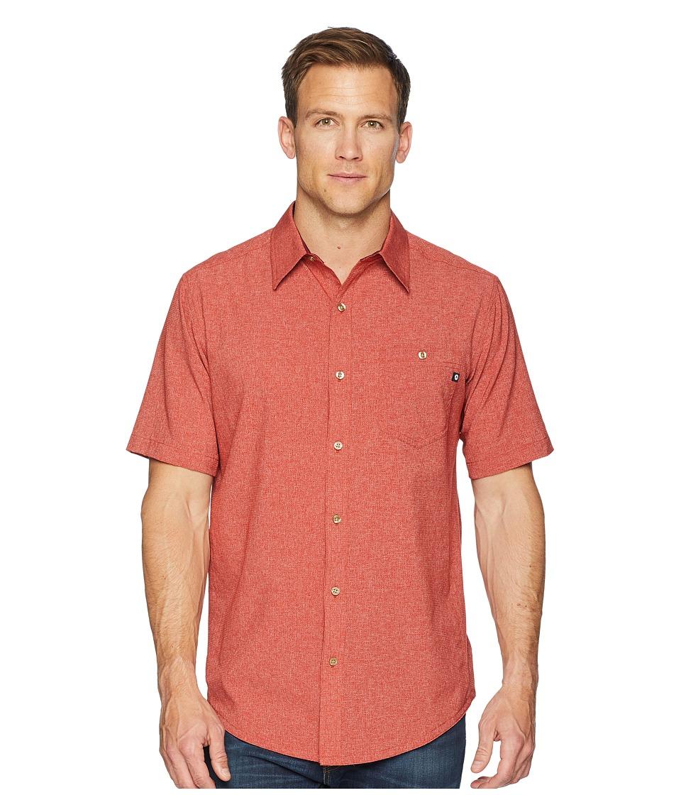 Marmot - Windshear Short Sleeve (Auburn) Mens Short Sleeve Button Up