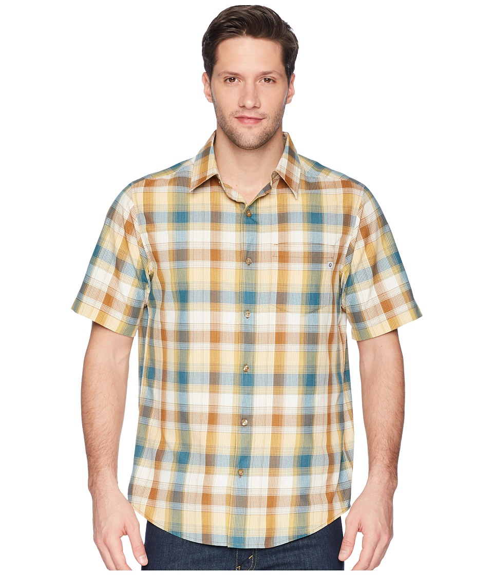 Marmot - Notus Short Sleeve (Dark Maple) Mens Short Sleeve Button Up