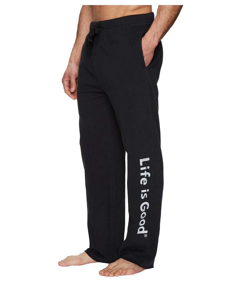Life is Good - Evolved Classic LIG Fleece Lounge Pant (Night Black) Mens Fleece