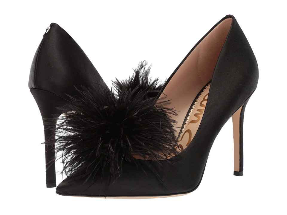 Sam Edelman - Haide (Black Crystal Satin Fabric) High Heels