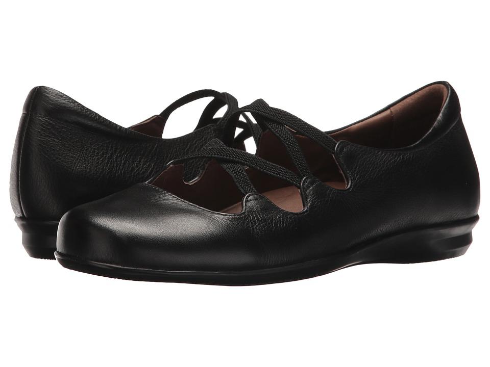 Earth Clare Earthies (Black Premium Tumbled Leather) Women