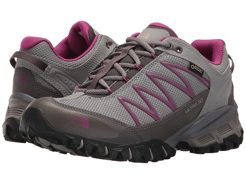 The North Face Ultra 110 GTX (Q-Silver Grey/Wild Aster Purple) Women's Shoes