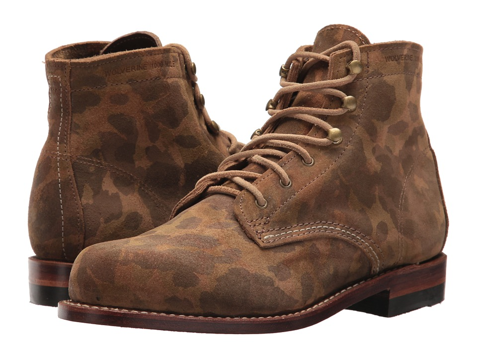 Wolverine Original 1000 Mile Boot (Camo Suede) Women's Work Boots