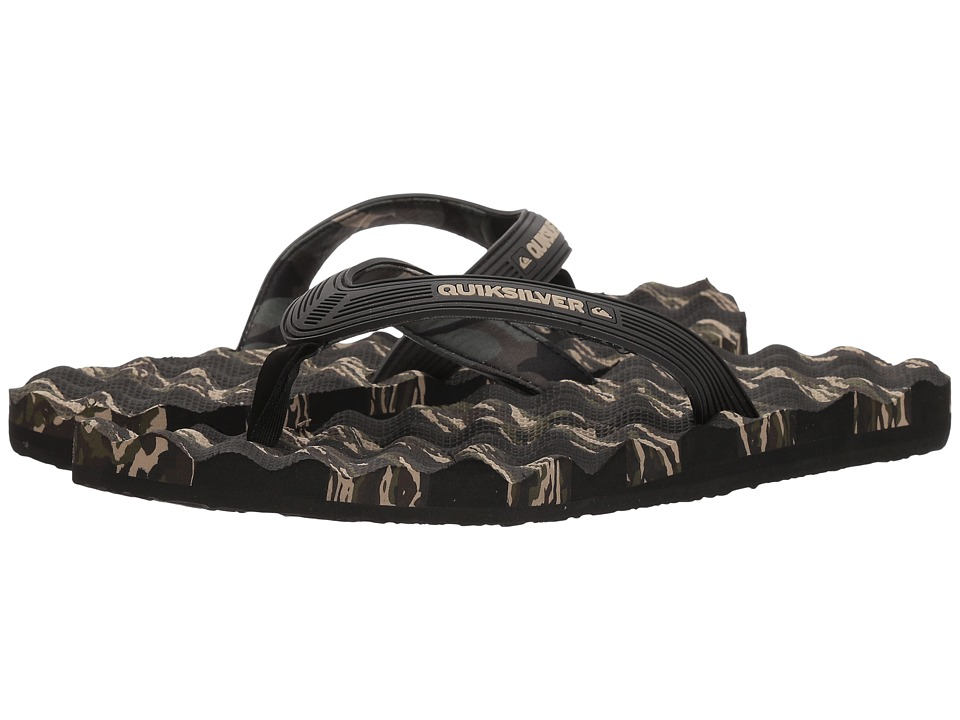 Quiksilver - Massage (Black/Green/Green) Mens Sandals