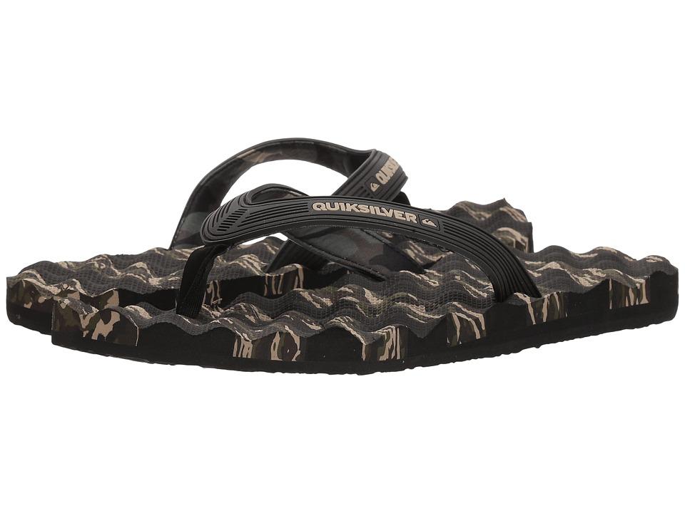 Quiksilver - Massage (Black/Green/Green) Men's Sandals
