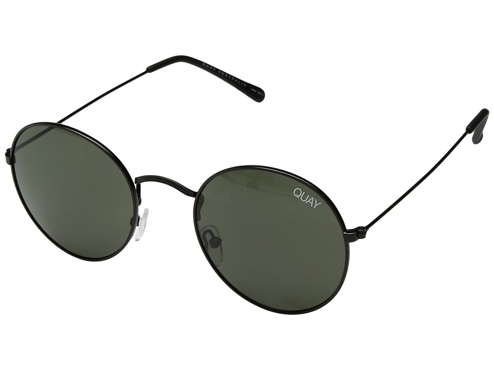 QUAY AUSTRALIA Mod Star (Black/Green) Metal Frame Fashion Sunglasses