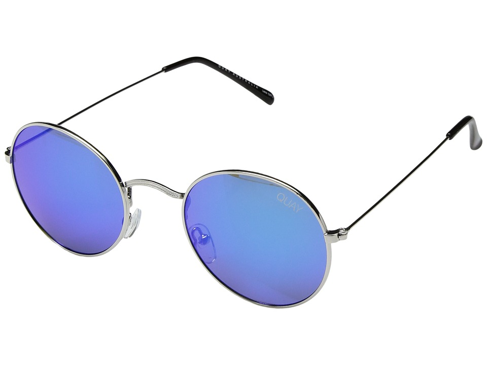QUAY AUSTRALIA Mod Star (Silver/Blue) Metal Frame Fashion Sunglasses