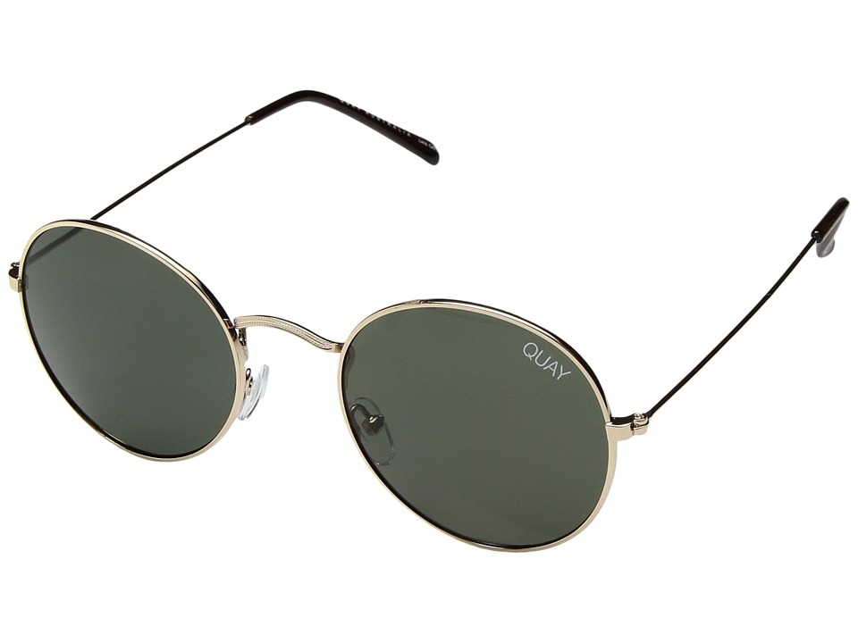 QUAY AUSTRALIA Mod Star (Gold/Green) Metal Frame Fashion Sunglasses