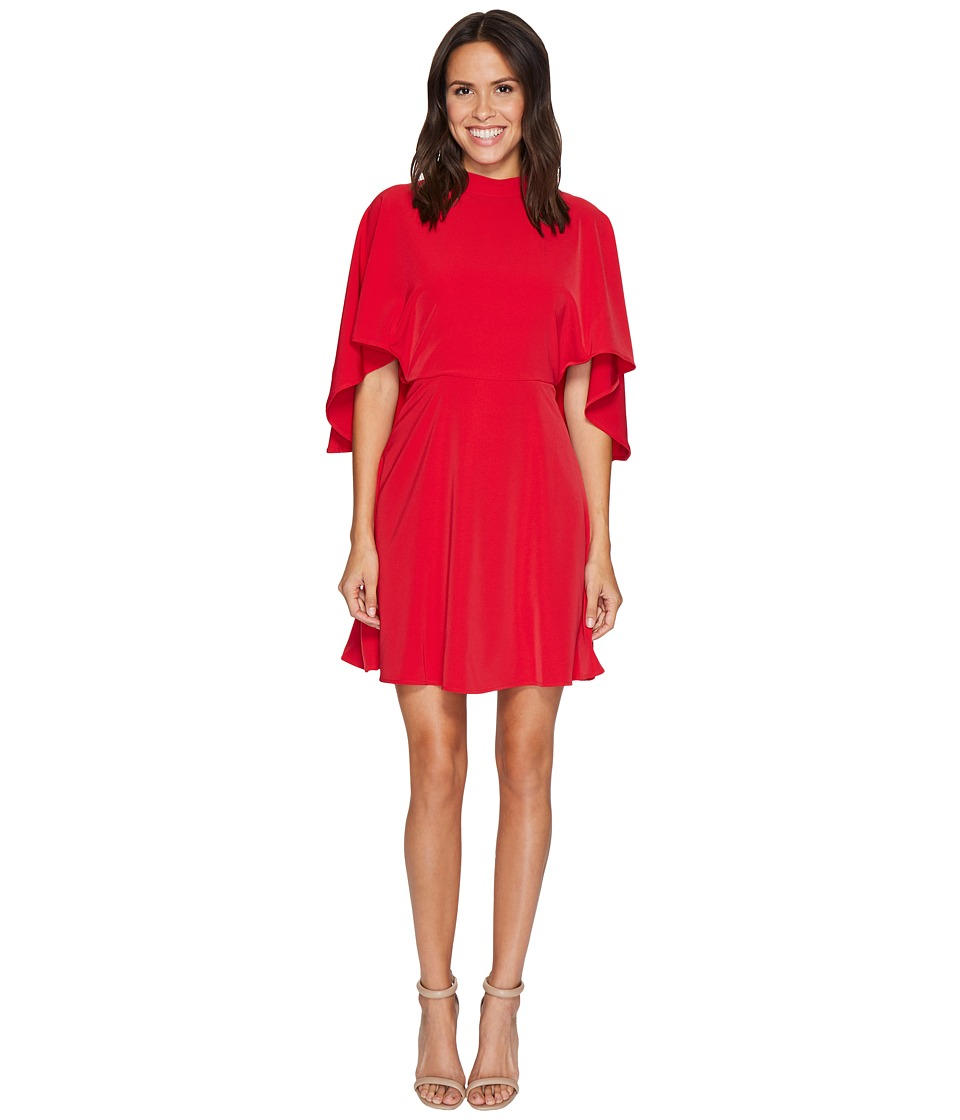 Maggy London - Cold Shoulder Crepe Fit and Flare