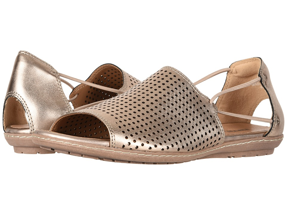 Earth Shelly (Champagne Metallic Leather) Women's Shoes