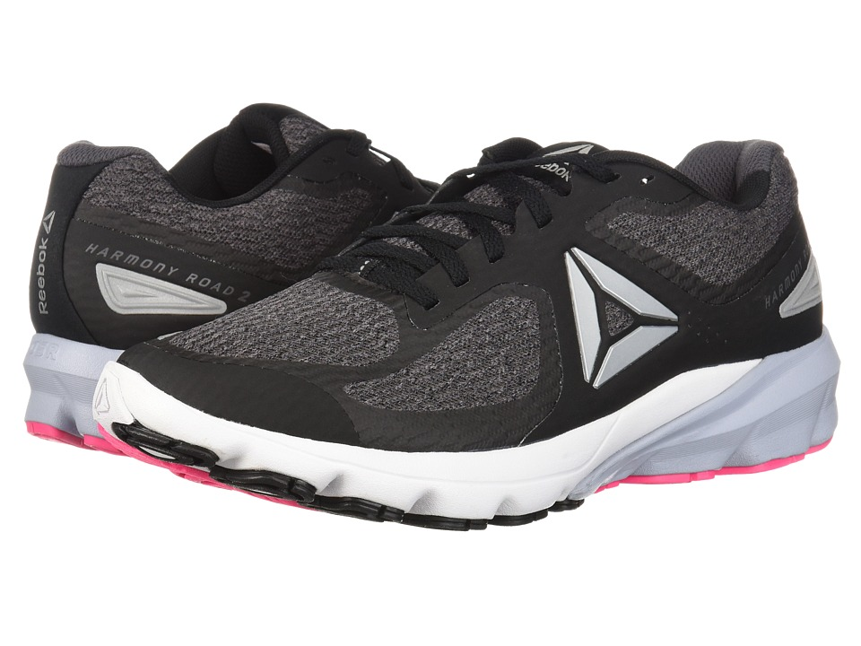 Reebok Harmony Road 2 (Black/Ash Grey/White/Solid Pink) Women's Shoes