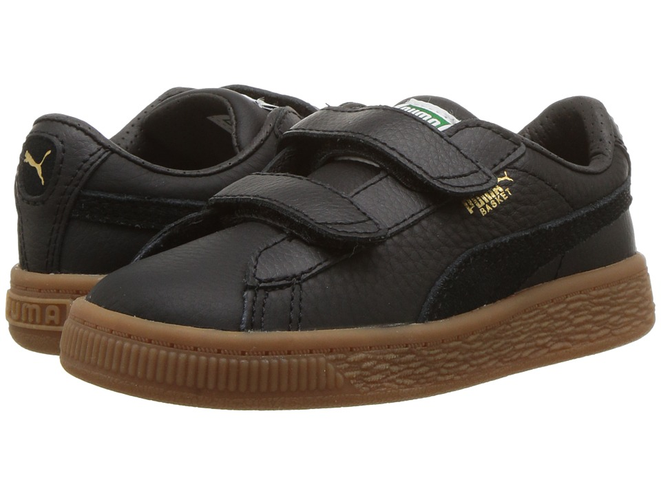 Puma Kids Basket Classic Gum Deluxe (Toddler) (Puma Black/Puma Black) Kids Shoes