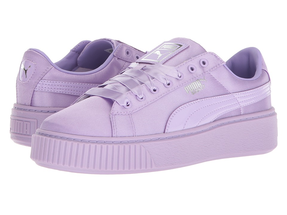Puma Kids Basket Perform Tween (Big Kid) (Purple Rose/Purple Rose) Girls Shoes