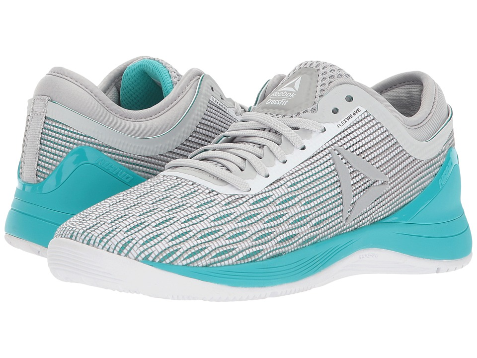 Reebok CrossFit Nano 8.0 (White/Stark Grey/Grey/Classic White/Turquoise) Women's Shoes