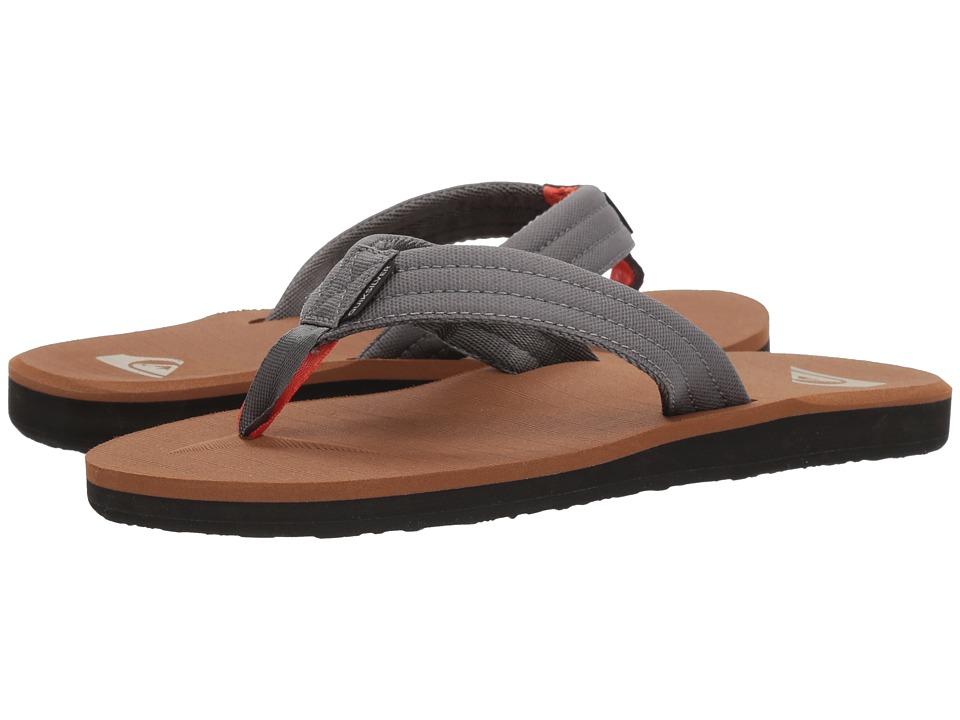 Quiksilver - Carver Tropics (Grey/Black/Brown) Men's Sandals