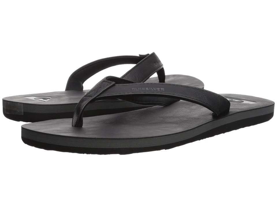 Quiksilver - Molokai Nubuck (Solid Black) Men's Sandals