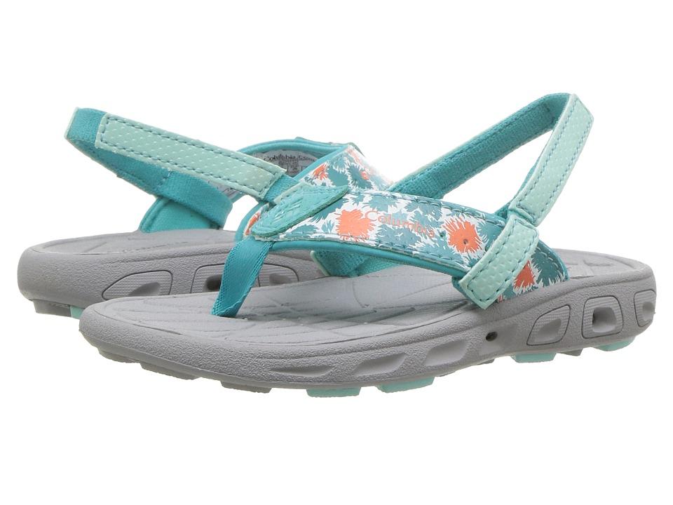 Columbia Kids Techsun Flip (Toddler/Little Kid) (Gulf Stream/Bright Peach) Girls Shoes