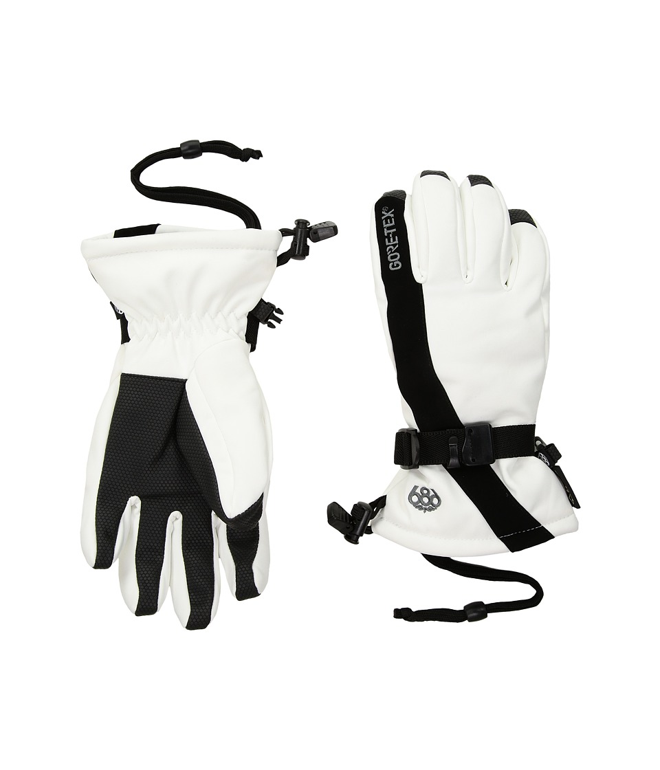 686 Gore-Tex Linear Gloves (White) Gore-Tex Gloves