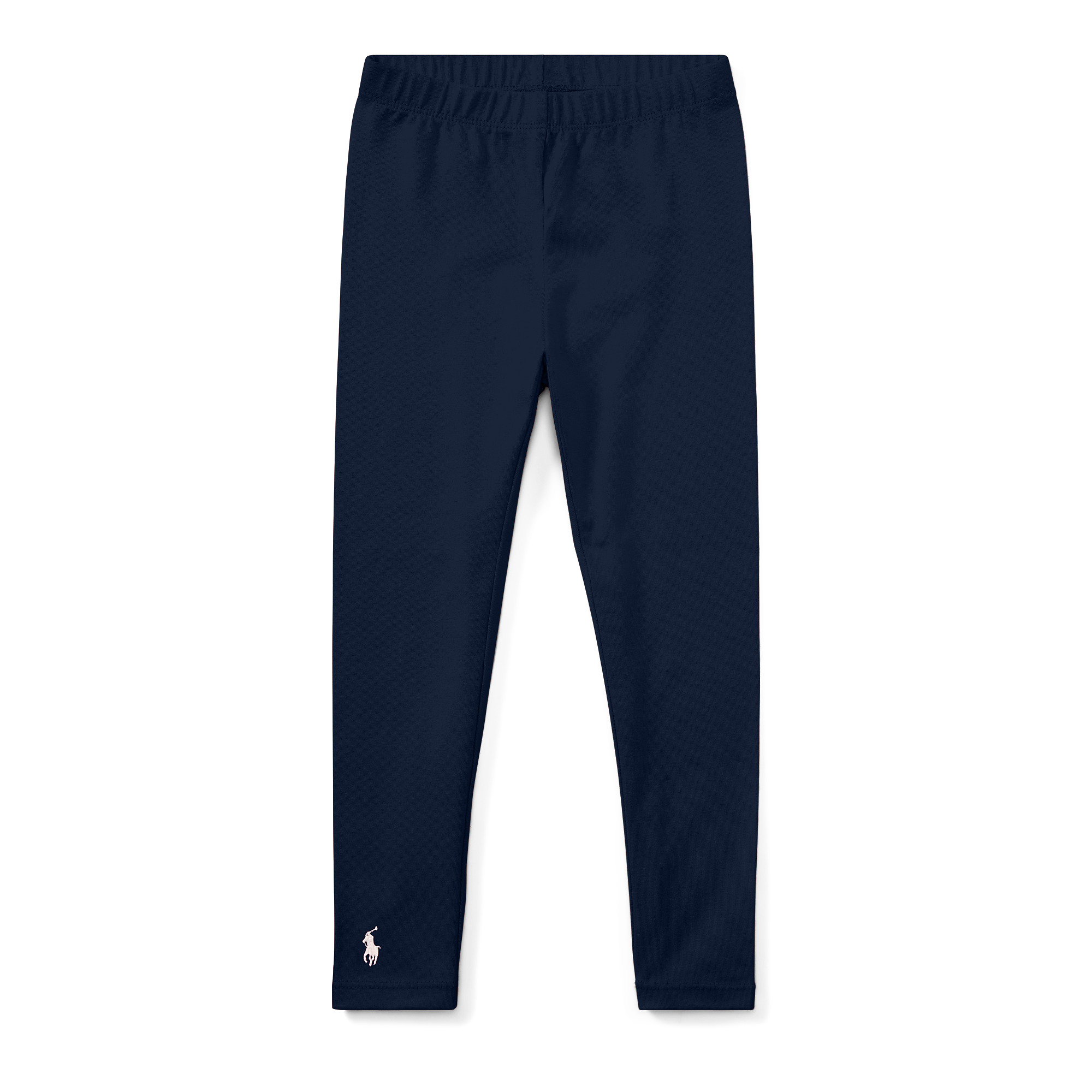 Polo Ralph Lauren Kids - Solid Jersey Leggings (Toddler) (French Navy) Girls Casual Pants
