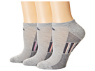 adidas Climacool(r) Superlite Stripe No Show Socks 3-Pack