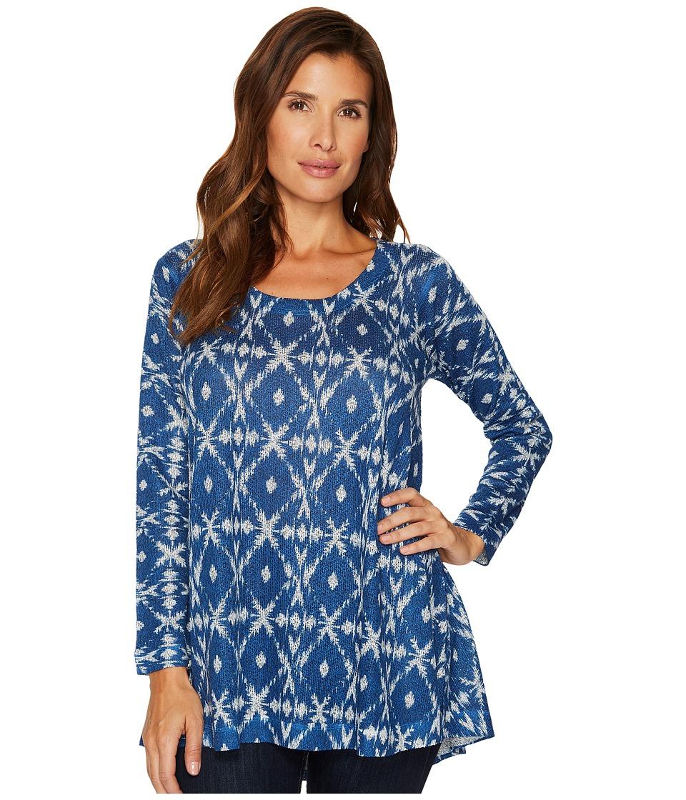 Nally & Millie - Blue Ikat Print Tunic
