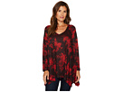 Nally & Millie Red Print Tunic