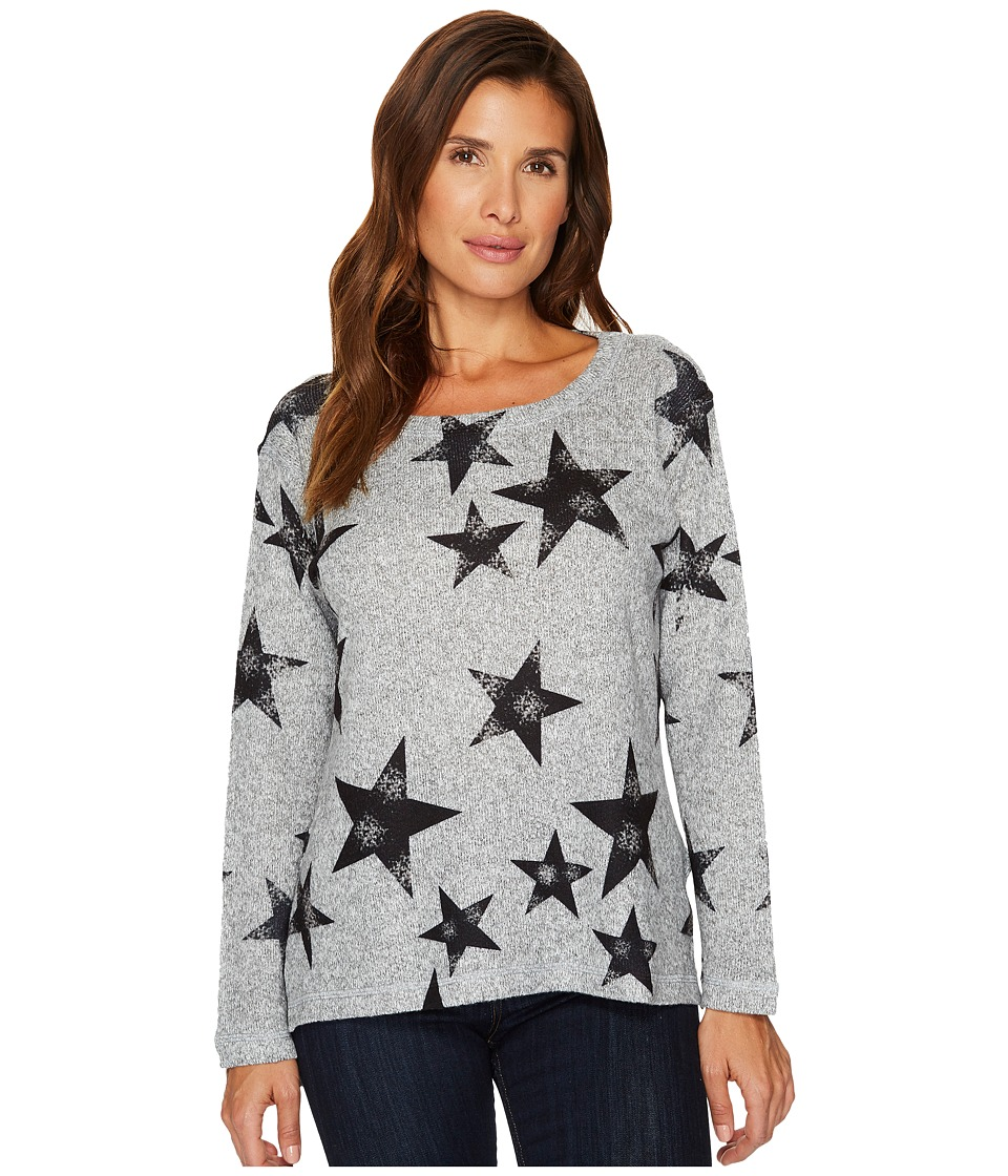 Nally & Millie - Star Print Brushed Sweater Top