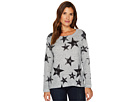 Nally & Millie Star Print Brushed Sweater Top