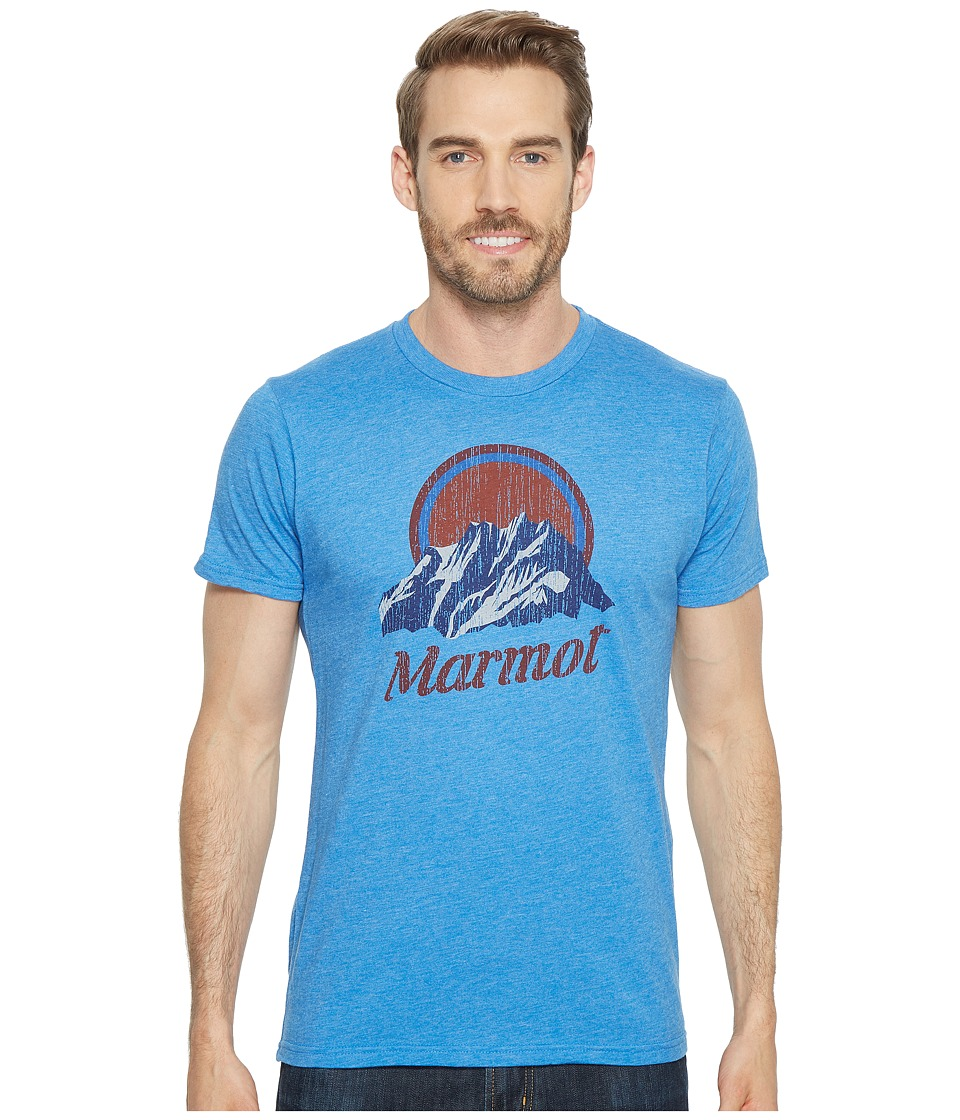 Marmot - Short Sleeve Pikes Peak Tee (New Royal Heather) Mens T Shirt