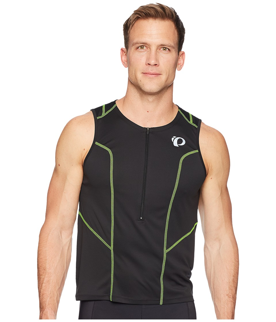 Pearl Izumi - Select Pursuit Tri SL Jersey (Black/Screaming Yellow) Mens Workout