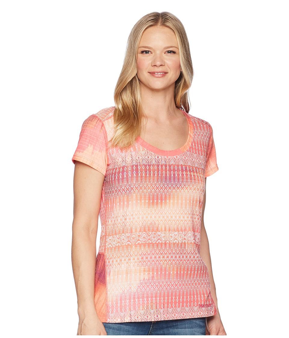 Marmot - Logan Short Sleeve (Hibiscus Blur) Womens Clothing