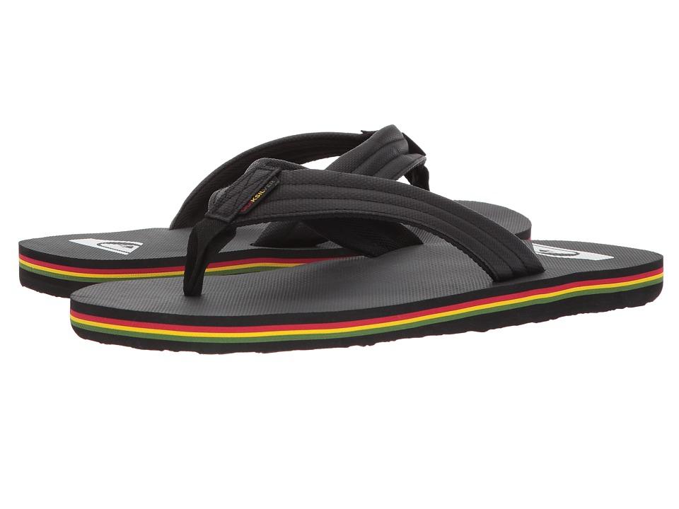 Quiksilver - Molokai Wide TX (Black/Red/Green) Men's Sandals