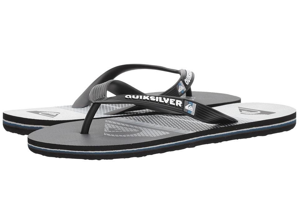 Quiksilver - Molokai Highline Slab (Black/Grey/White) Men's Sandals