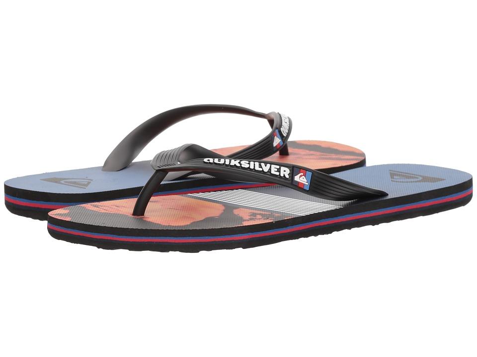 Quiksilver - Molokai Lava Division (Black/Red/Blue) Men's Sandals
