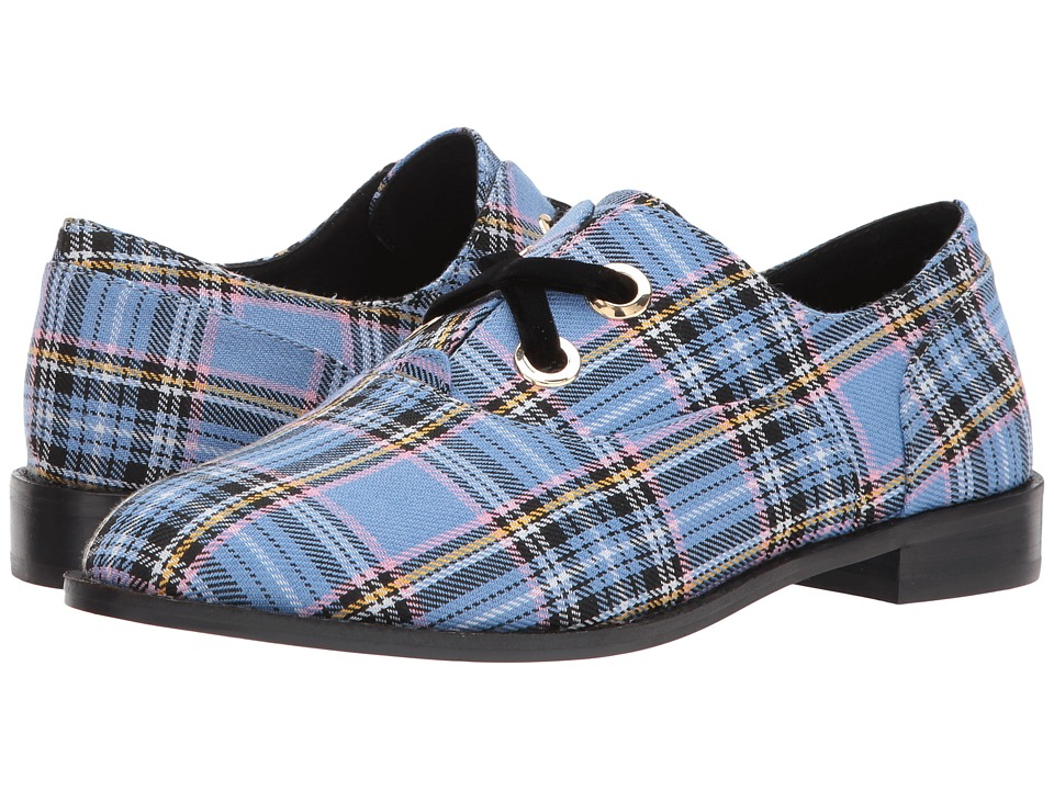 Shellys London Frankie Oxford (Light Blue Plaid) Women