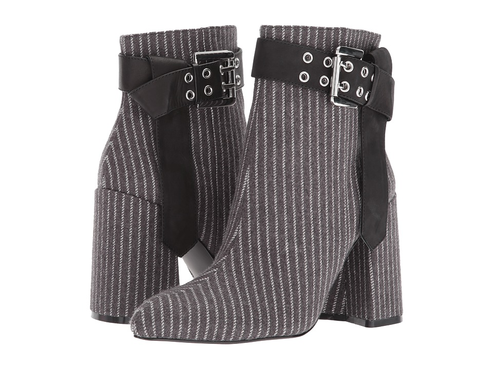 Shellys London - Gabi (Grey Pinstripe) Womens Dress Boots