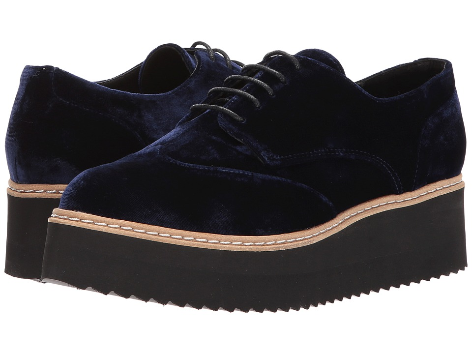 Shellys London Tommy Platform Oxford (Navy) Women