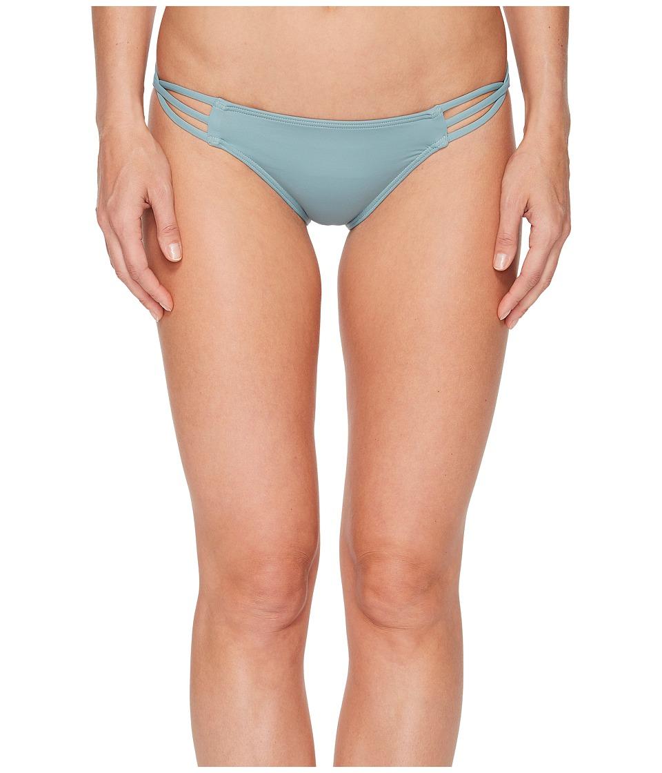 O'Neill Salt Water Solids Multi Side Strap Bikini Bottom (Aqua Haze)