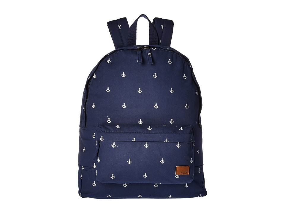 Roxy Sugar Baby Canvas Backpack (Dress Blue Printed Ancho...