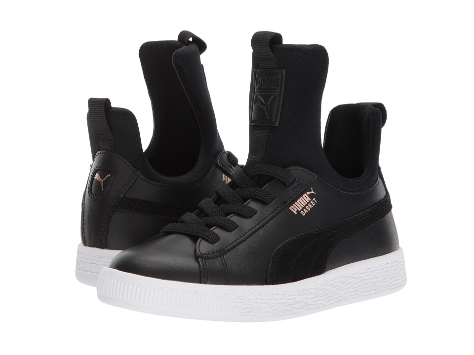 Puma Kids Basket Fierce AC (Little Kid) (Puma Black/Rose Gold/Puma White) Kids Shoes