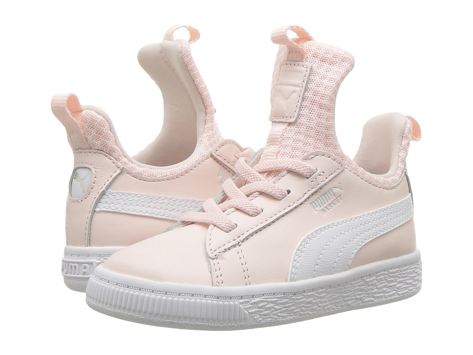 Puma Kids Basket Fierce EP AC (Toddler) (Pearl/Puma White) Girls Shoes