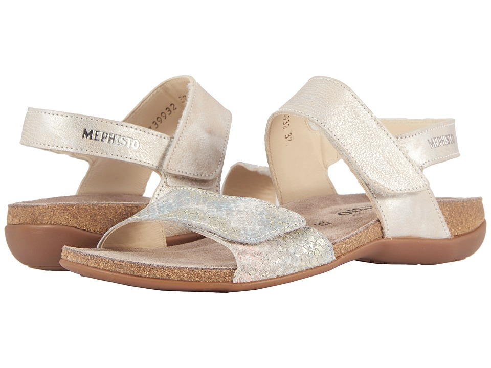Mephisto - Agave (Light Sand Ascot/Multi Boa) Womens Sandals