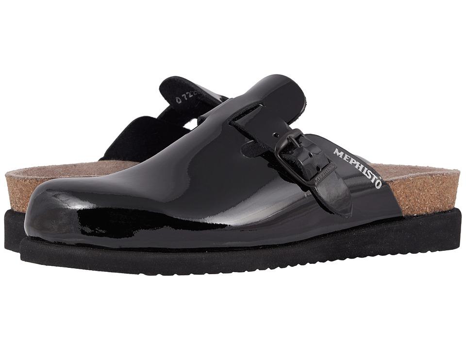 Mephisto - Halina (Black Patent) Womens Slip on  Shoes