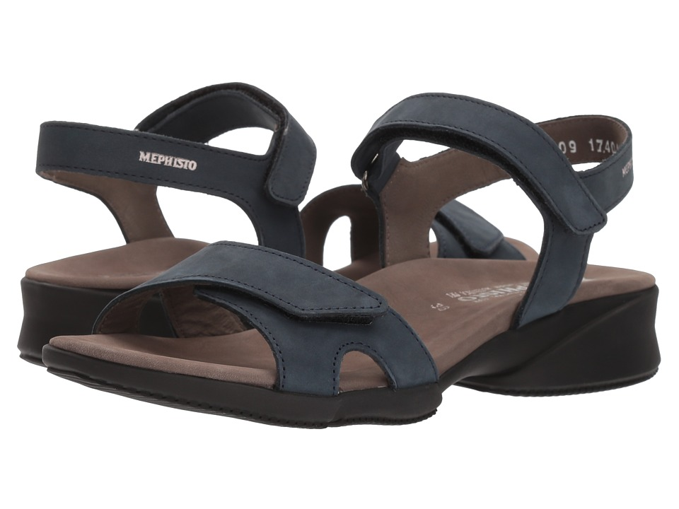 Mephisto - Francesca (Navy Bucksoft) Women's Sandals