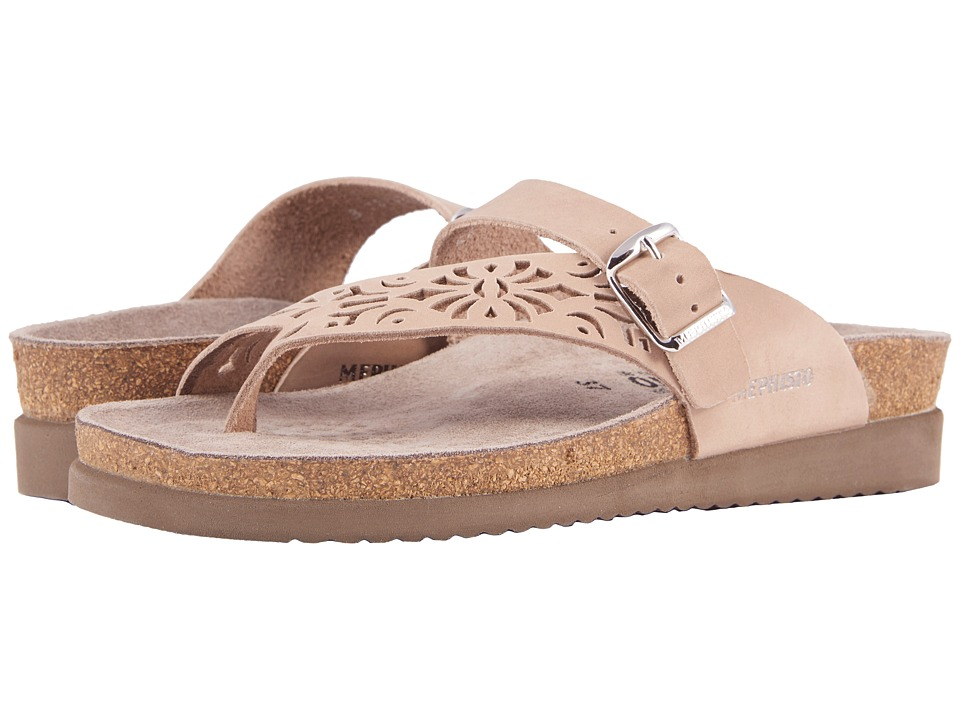 Mephisto - Helen Perf Nubuck (Light Taupe Nubuck) Women's Sandals